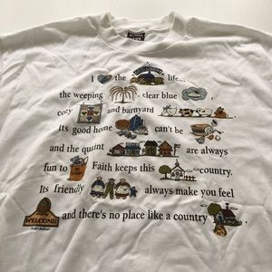 Vintage Country Life Tee Graphic USA 50/50 XL